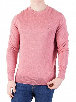 Tommy Hilfiger Dusty Rose Heather Cotton Silk Knit