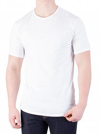 Calvin Klein White 2 Pack ID Crew Slim T-Shirts