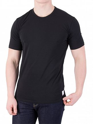 Calvin Klein Black 2 Pack ID Crew Slim T-Shirts