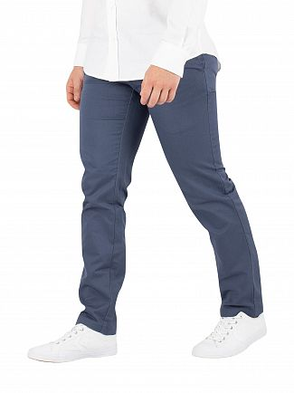 Carhartt WIP Stone Blue Sid Slim Tapered Rinsed Chinos