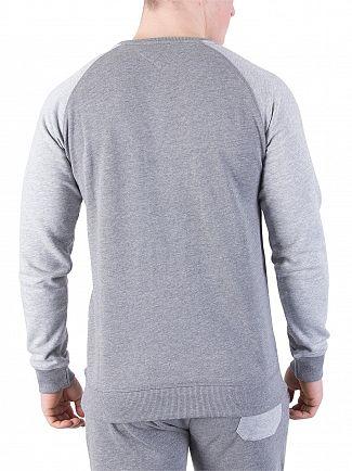 Tommy Hilfiger Mid Grey Heather Raglan Marled Sweatshirt