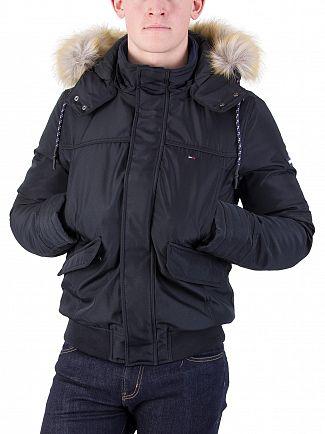 Tommy Hilfiger Denim Black Tech 28 Bomber Jacket