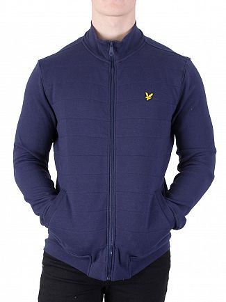 Lyle & Scott Navy Wadded Funnel Jacket
