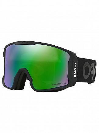 Oakley Matte Black/Jade Iridium Line Miner Prizm Snow Goggles