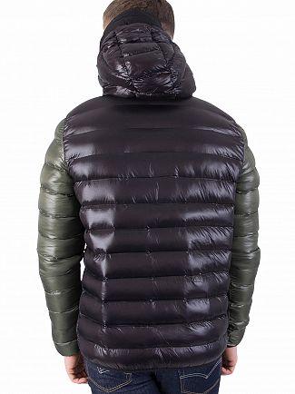 Sik Silk Black/Khaki Bubble Contrast Jacket