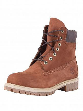 TIMBERLAND RUST BROWN ICON 6-INCH BOOTS