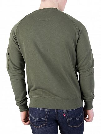 Alpha Industries Dark Green X-Fit Sweatshirt