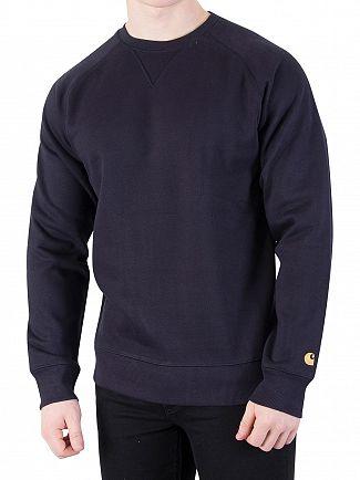 Carhartt WIP Dark Navy/Gold Chase Sweatshirt