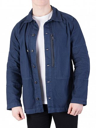G-STAR LEGION BLUE RACKAM ZIP OVERSHIRT
