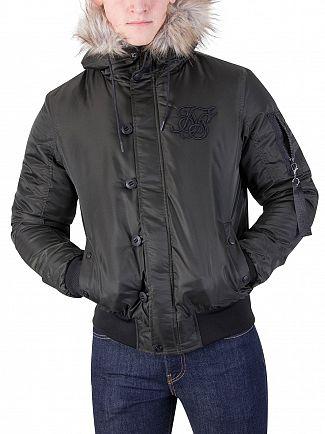 Sik Silk Khaki Everest Bomber Jacket