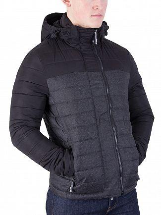 Superdry True Black/Black Marl Fuji Block Jacket