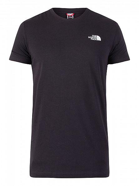 The North Face Black Red Box Logo T-Shirt