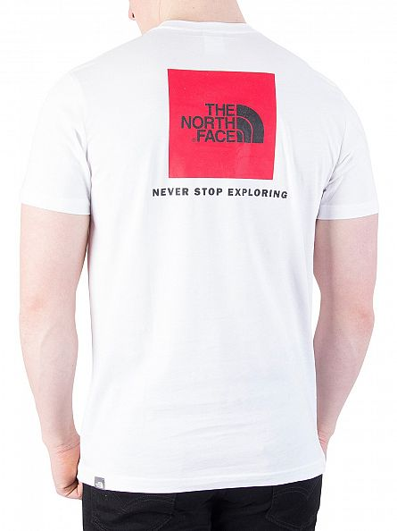 The North Face White Red Box Logo T-Shirt