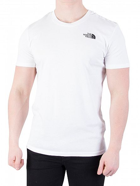 The North Face White Simple Dome Logo T-Shirt