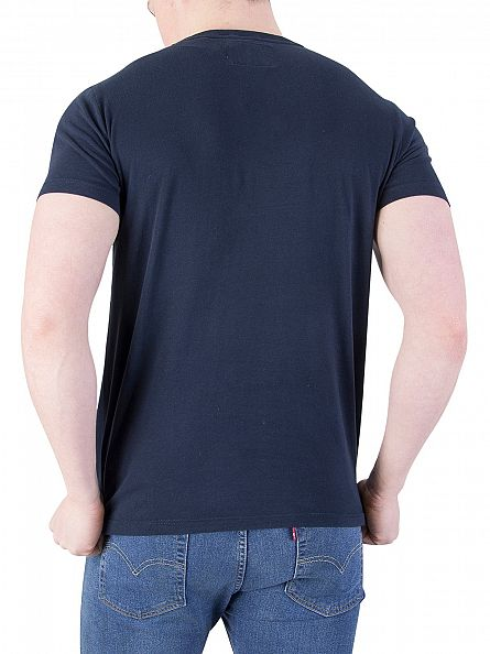 Superdry Eclipse Navy Orange Label Vintage Logo T-Shirt