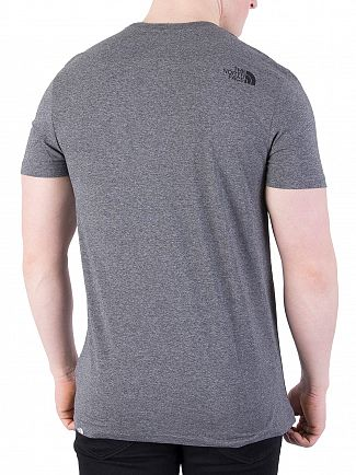 The North Face Mid Grey Heather Simple Dome Marled Logo T-Shirt