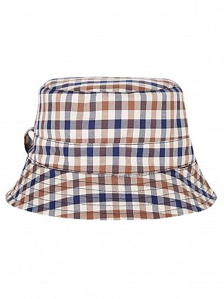 Aquascutum Navy Reversible Bucket Hat