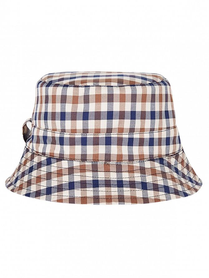 Aquascutum Navy Reversible Bucket Hat