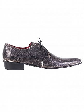Jeffery West Silver Break Metal Leather Shoes