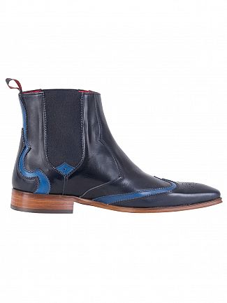 Jeffery West Tequila Dark Blue/Tequila Jeans Polished Leather Boots