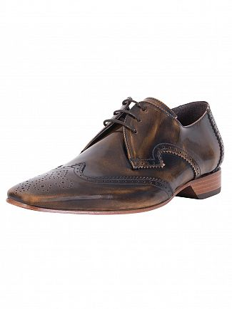 Jeffery West College Camel Polished Shoes