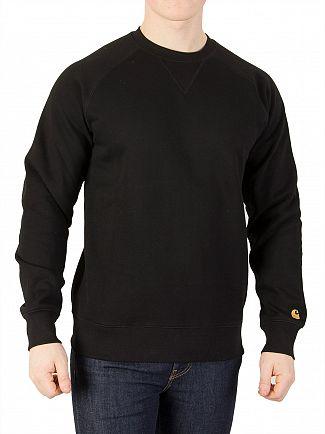 Carhartt WIP Black/Gold Chase Sweatshirt