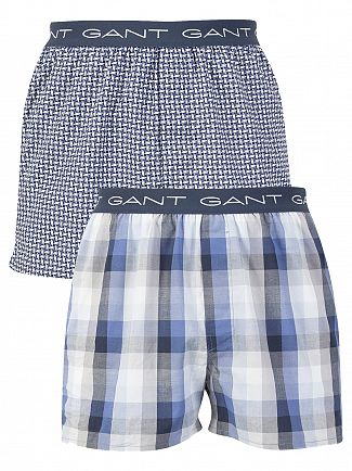 Gant Blue Ocean 2 Pack Woven Trunks