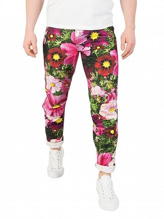 G-Star Grass/Trash Pink Pharrell Williams X Elwood X52 3D Tapered Jeans