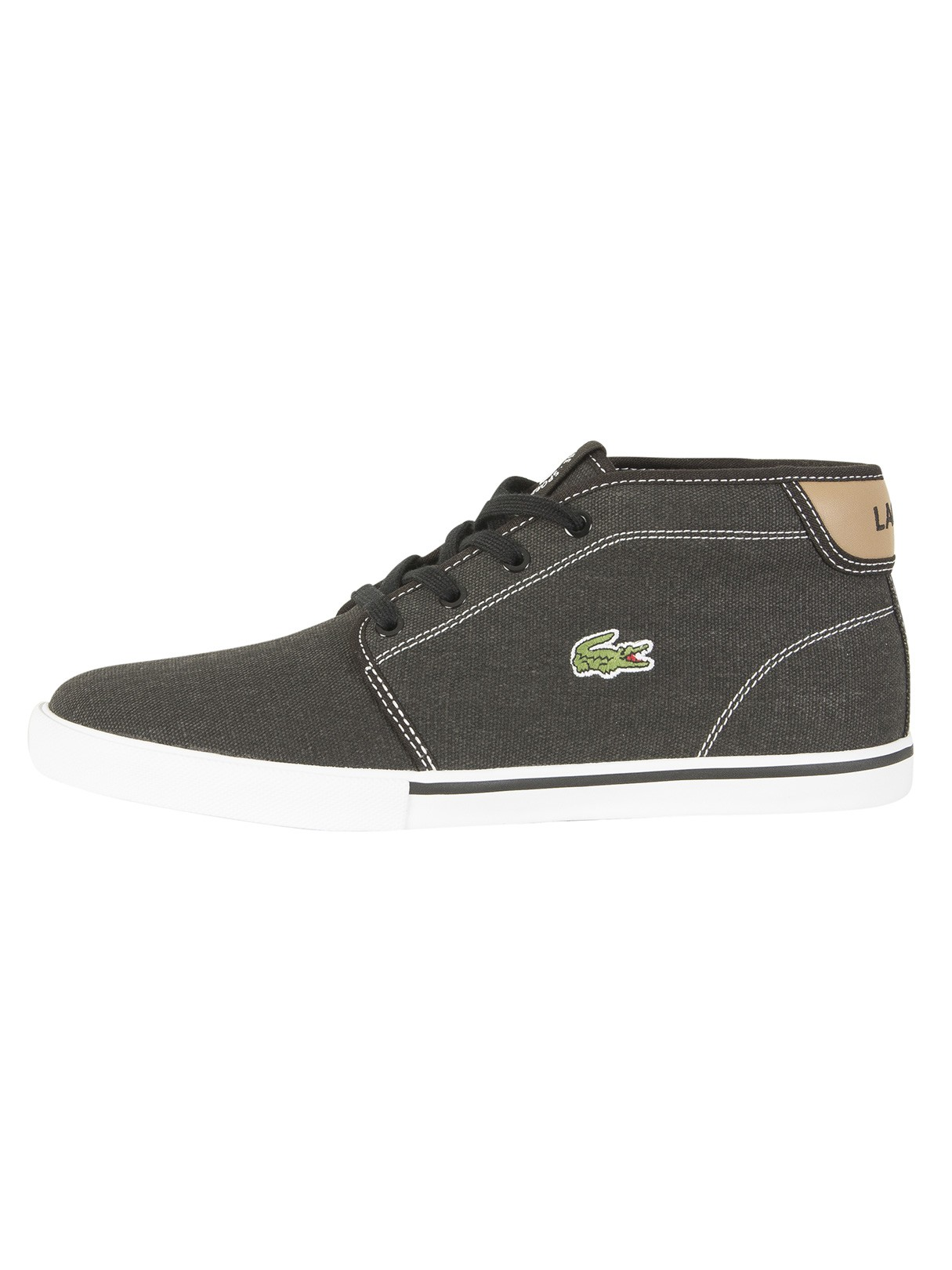 Lacoste AMPTHILL - High-top trainers - black/light tan X3qWL0