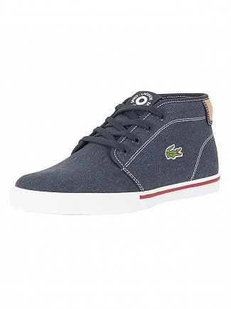 Lacoste Navy/Light Tan Ampthill 118 1 CAM Trainers