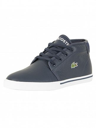 Lacoste Navy/White Ampthill 118 2 CAM Leather Trainers