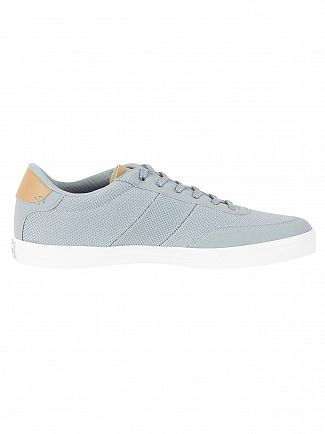 Lacoste Grey/Light Tan Court Master 118 1 CAM Trainers
