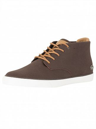 Lacoste Dark Brown/Light Brown Esparre Chukka 118 1 CAM Trainers