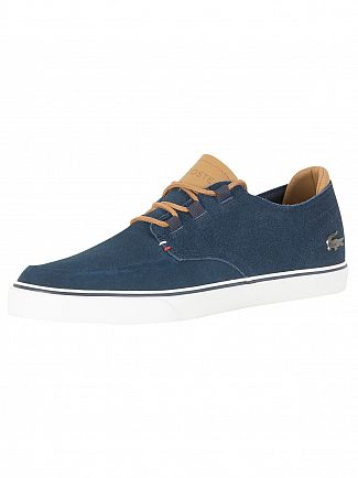 Lacoste Navy/Light Brown Esparre Deck 118 1 CAM Trainers