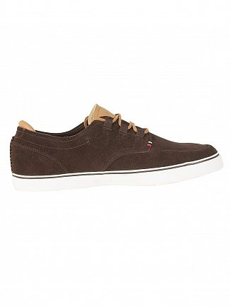 Lacoste Dark Brown/Light Brown Esparre Deck 118 1 CAM Trainers