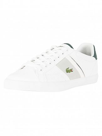 Lacoste White/Dark Green Fairlead 118 1 CAM Trainers