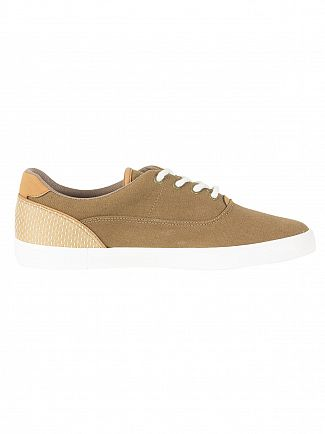 Lacoste Brown/Light Tan Jouer Lace 118 1 CAM Trainers