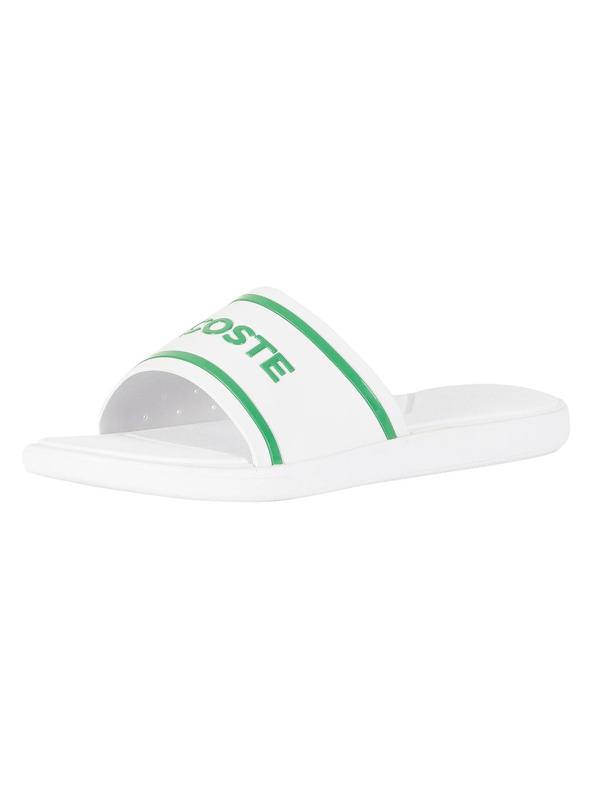 0f06bb910 Lacoste White Green L.30 Slide 118 2 CAM Flip Flops