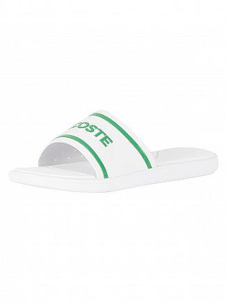 Lacoste White/Green L.30 Slide 118 2 CAM Flip Flops