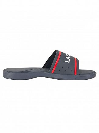 Lacoste Navy/Red L.30 Slide 118 2 CAM Flip Flops