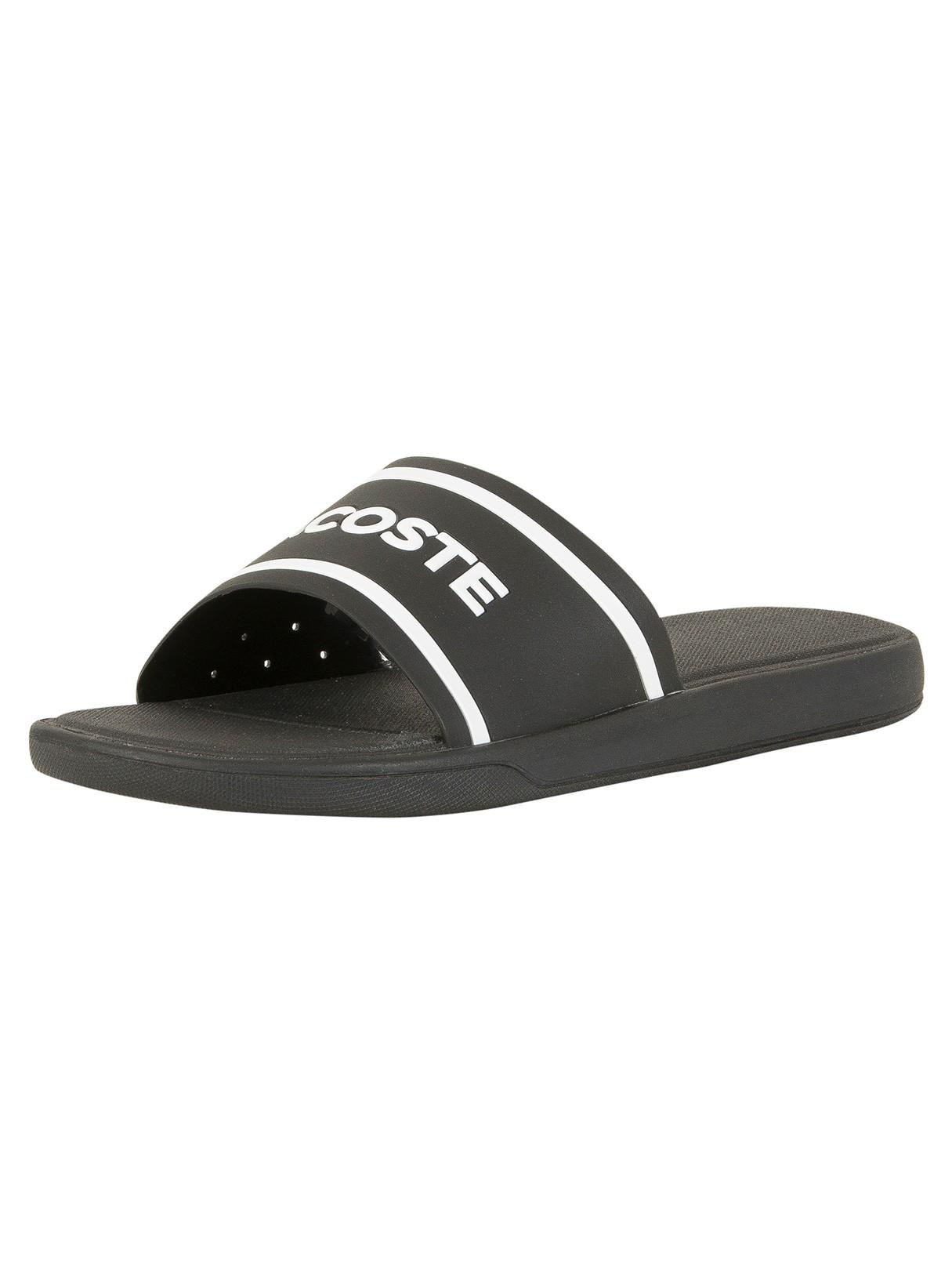 dfc87a300b4b2 Lacoste Black White L.30 Slide 118 3 CAM Flip Flops