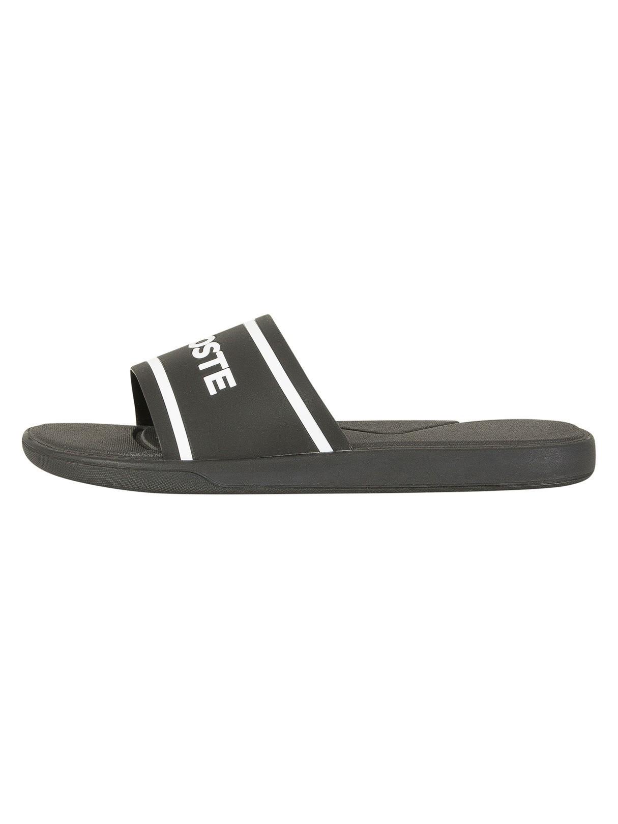 7b8a9bdcf703 Lacoste Black White L.30 Slide 118 3 CAM Flip Flops