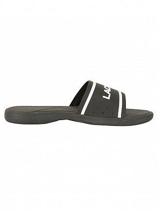 Lacoste Black/White L.30 Slide 118 3 CAM Flip Flops