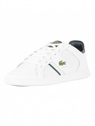 Lacoste White/Dark Green Novas CT 118 1 SPM Leather Trainers