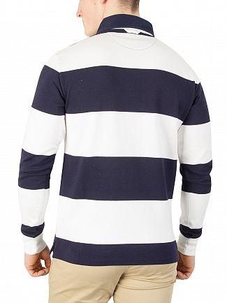 Gant Eggshell Barstripe Longsleeved Poloshirt