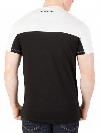 11 Degrees Black And White Block T-Shirt
