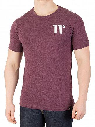 11 Degrees Aubergine Marl Core T-Shirt