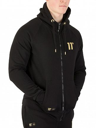 11 Degrees Black Gold Zip Hoodie