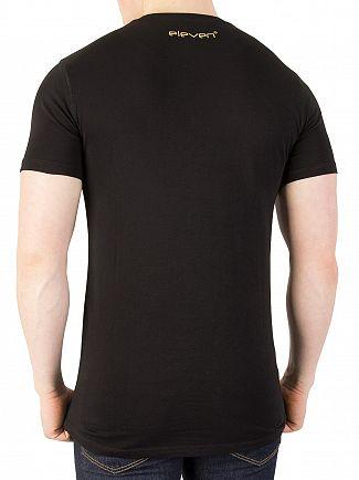 11 Degrees Black/Gold Logo T-Shirt
