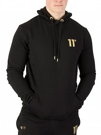 11 Degrees Black/Gold Pull Over Hoodie